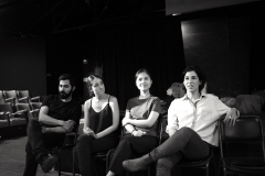Post performance Q&A (from left) Navid Ghasemi, Isabella Forte, Hanh Nguyen  and Talin Agon (Photo: Robert Owe-Young)